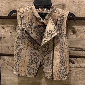guess snake print vest